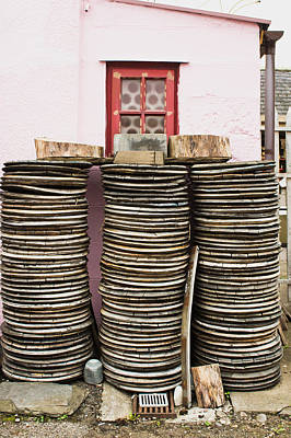 Wooden Discs Print by Tom Gowanlock