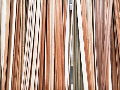 Wooden Floor Trims Print by Tom Gowanlock