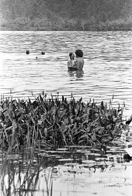 Black And White Nude Couple Photograph - Woodstock Music & Art Fair by Baron Wolman
