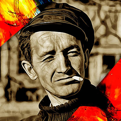 Musician Mixed Media - Woody Guthrie Collection by Marvin Blaine