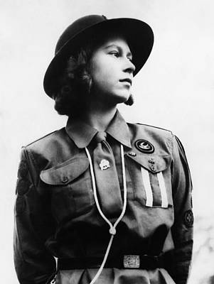 British Royalty Photograph - World War II. Future Queen Of England by Everett