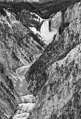 Of Artist Photograph - Yellowstone Falls From Artist Point by Jamie Pham