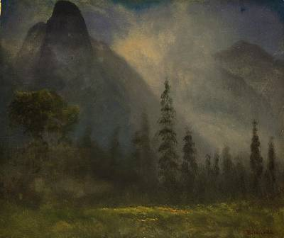 Waterfall Painting - Yosemite  Valley by Celestial Images