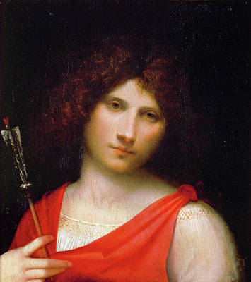 Man Painting - Young Man With Arrow by Giorgione