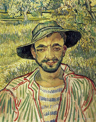 Beard Painting - Young Peasant by Vincent van Gogh
