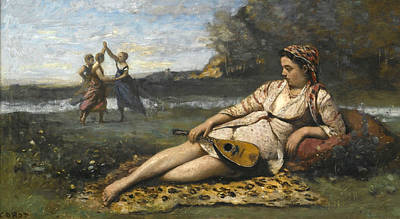 Jean-baptiste Art Painting - Young Women Of Sparta by Jean-Baptiste-Camille Corot