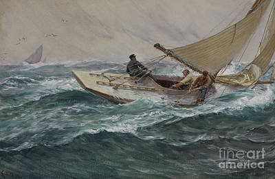Water Vessels Painting - Youth by Charles Napier Hemy
