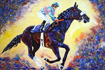 Zenyatta Painting - Zenyatta Grand Finale by Jennifer Godshalk