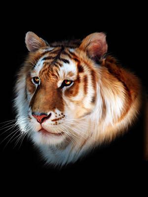Tiger Digital Art - Zeus by Julie L Hoddinott