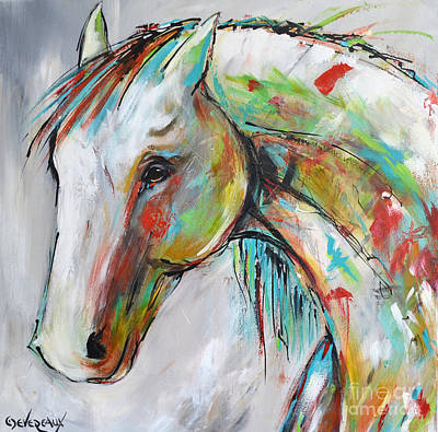 Wild Horse Painting - Zion by Cher Devereaux