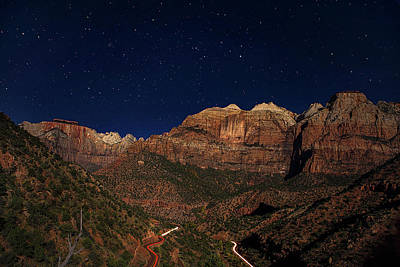 Horizontal Photograph - Zion Under The Stars by Andrew Soundarajan