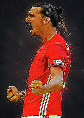 Cristiano Ronaldo Digital Art - Zlatan Ibrahimovic by Semih Yurdabak