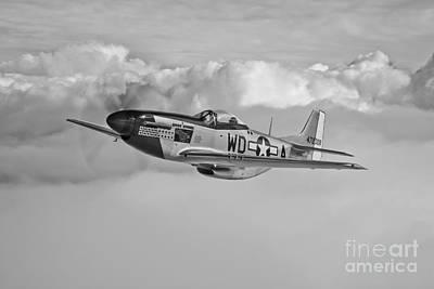 World War Ii Bomber Photograph - A P-51d Mustang In Flight by Scott Germain