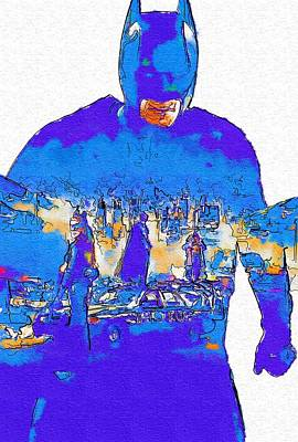 Action Batman Art Print by Egor Vysockiy