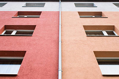 Apartment Building Print by Tom Gowanlock