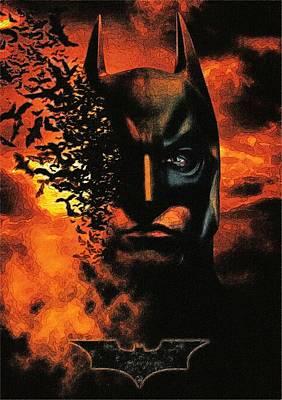 Batman Digital Art - Begins Batman Print by Egor Vysockiy