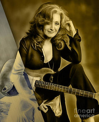 Bonnie Raitt Collection Print by Marvin Blaine