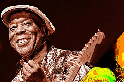 Guitar Mixed Media - Buddy Guy Collection by Marvin Blaine