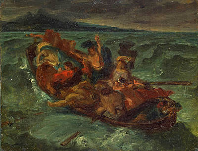 Eugene Delacroix Painting - Christ On The Sea Of Galilee by Eugene Delacroix