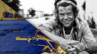 Bands Mixed Media - Harry Styles Collection by Marvin Blaine