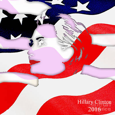 Hillary Clinton 2016 Collection Print by Marvin Blaine
