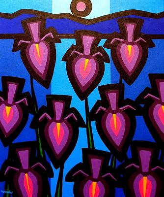 10 Irises Original by John  Nolan