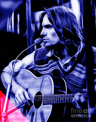 James Taylor Collection Print by Marvin Blaine