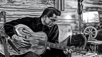 Johnny Cash Mixed Media - Johnny Cash Collection by Marvin Blaine