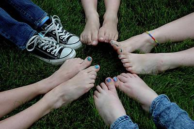 Ankle Bracelet Photograph - 10 Kids Feet by LeeAnn McLaneGoetz McLaneGoetzStudioLLCcom