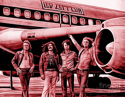 Led Zeppelin Collection Print by Marvin Blaine