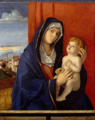 Religious Art Painting - Madonna And Child by Giovanni Bellini