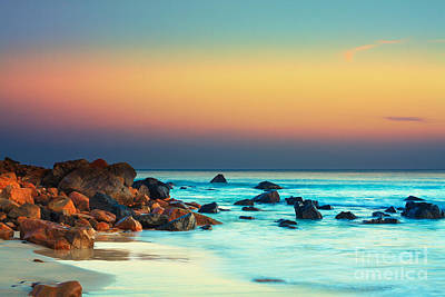 Long Exposure Photograph - Sunset by MotHaiBaPhoto Prints