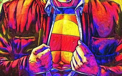 Superman Digital Art - Superman Poster by Egor Vysockiy