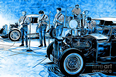 Surf Mixed Media - The Beach Boys Collection by Marvin Blaine