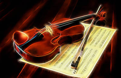 Music Mixed Media - Violin Collection by Marvin Blaine