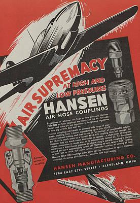 Jet Drawing - World War II Advertisement by American School
