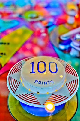 100 Points - Pinball Print by Colleen Kammerer