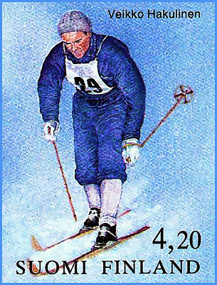 Cross-country Skiing Painting - 100 Years Ioc Cross-country Skiing by Lanjee Chee