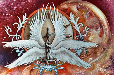 Seraphim Angel Painting - Seraphim Next To A Drop by Ramona Boehme