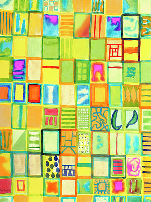 Grid Painting - 101 Images by Heidi Capitaine