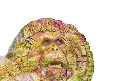 Orangutan Mixed Media - 10750 Sheriff Daisy by Pamela Williams
