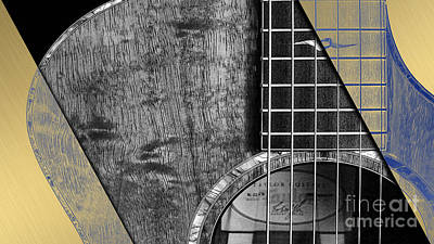 Acoustic Guitar Mixed Media - Acoustic Guitar Collection by Marvin Blaine