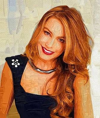 Shakira Digital Art - Actress Sofia Vergara  by Best Actors