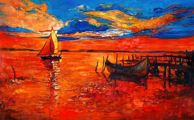 Creativity Drawing - Boats by Boyan Dimitrov