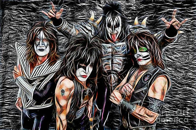 Kiss Collection Print by Marvin Blaine