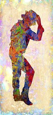 Icon Digital Art - Michael Jackson by Michael Vicin