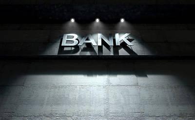 Financial Digital Art - Modern Bank Building Signage by Allan Swart