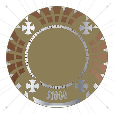 Game Piece Digital Art - Poker Chip by Francois Domain