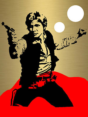 Star Mixed Media - Star Wars Han Solo Collection by Marvin Blaine