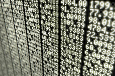 Financial Digital Art - Stock Market Digital Board by Allan Swart